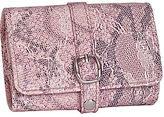 JCPenney Asstd National Brand Mele & Co. Pink Faux Snakeskin Travel Jewelry Wallet