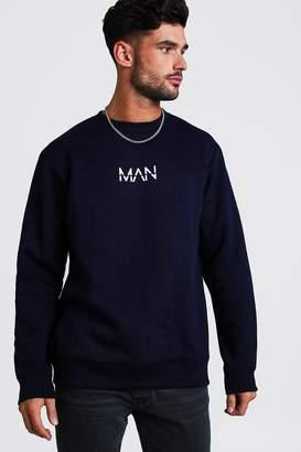 boohoo Original MAN Print Sweater