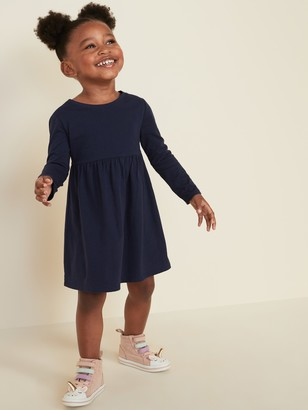 Old Navy Solid Fit & Flare Dress for Toddler Girls