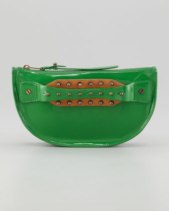 McQ Studded Hand-Strap Coin Clutch Bag, Rasta