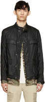 Belstaff Black Waxed Cotton Leighwood Jacket