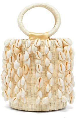 Sensi Studio - X Loulou De Saison Shell-fringed Straw Bucket Bag - Womens - Beige