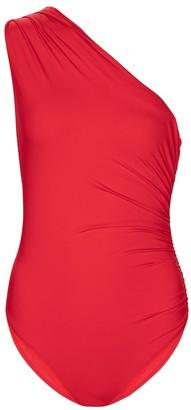 Melissa Odabash Arizona one-shoulder swimsuit