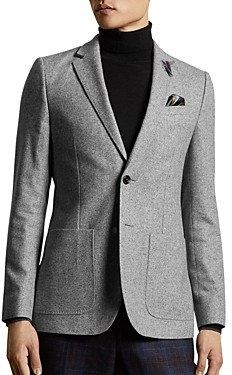 Ted Baker Wool-Blend Herringbone Slim Fit Blazer