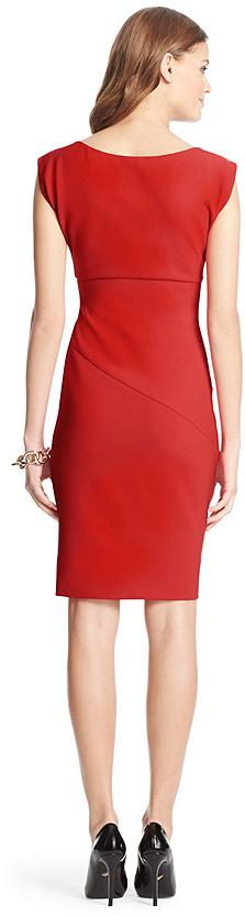 Diane von Furstenberg Bevin Ceramic Ruched Sheath Dress