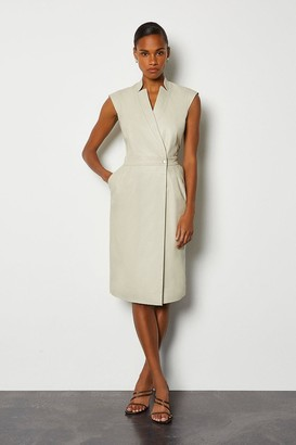 Karen Millen Leather Wrap Dress