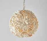 Pottery Barn Kids Coco Wood Flower Ball Pendant - Hardwire