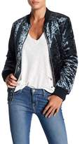 Romeo & Juliet Couture Crushed Velvet Bomber Jacket