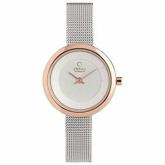 Obaku Women's Stille Analog Quartz Watch Series V146 (Silver)