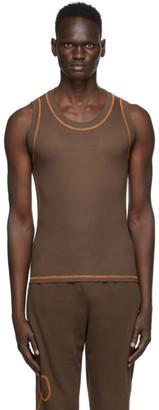 Phlemuns Brown Backless Tank Top