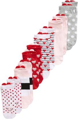 Tucker + Tate Assorted 6-Pack Heart Crew Socks