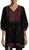 Tolani Kajol Half-Sleeve Velvet Tunic, Plus Size