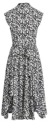 Lauren Ralph Lauren Ralph Lauren Floral Crepe Sleeveless Dress