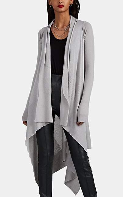 Rick Owens Women's Cashmere Long Wrap Cardigan - Light Gray