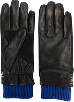 Ami Alexandre Mattiussi contrast cuff gloves - men - Lamb Skin/Wool - One Size