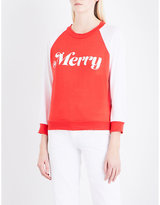 Wildfox Couture Merry cotton-jersey sweatshirt
