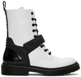 Moncler White Calypso Combat Boots