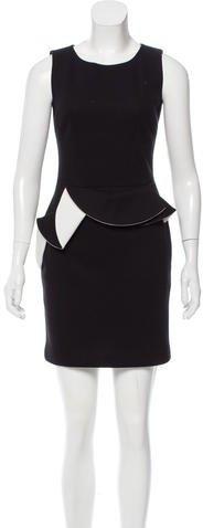 Sandro Ruffle-Trimmed Mini Dress