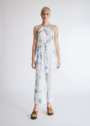 Which We Want Women's Anna Tie-Dye Jumpsuit in Blue/White, Size Small
