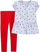 Carter's Toddler Girl Ladybug Button-Front Top & Legging Set