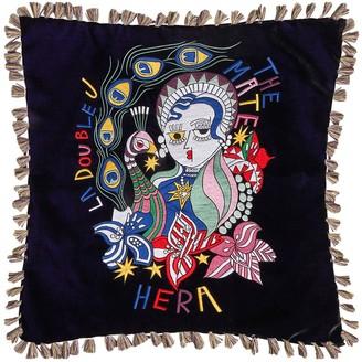La DoubleJ Hera Nero Velvet Pillow