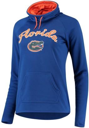 Women's Royal Florida Gators Funnel Neck Pullover Sweatshirt