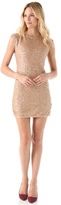 Alice + Olivia Wide Neck Sequin Dress