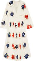 Natasha Zinko Gloves-n-Roses printed silk maxi dress