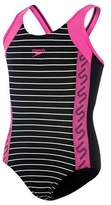 Speedo Girl's Monogram Muscleback Swimsuit