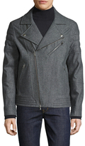 Brunello Cucinelli Spread Collar Biker Jacket