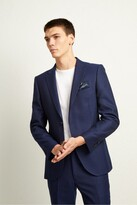 French Connection Ink Flannel Suit Jacket