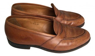 Edward Green Brown Leather Flats