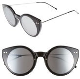 Spitfire Women's Alpha 1 60Mm Mirrored Sunglasses - Black/ Black/ Silver Mirror