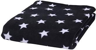 Clair De Lune Black Star Fleece Baby Blanket