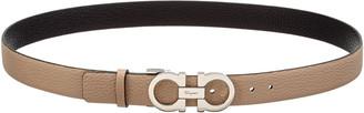 Salvatore Ferragamo Medium Double Gancio Adjustable & Reversible Leather Belt