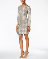 Jessica Howard Metallic Plaid Sheath Dress