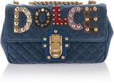 Dolce & Gabbana Embellished Quilted Leather Shoulder Bag