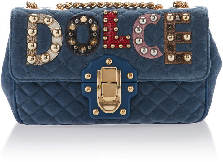 Dolce & Gabbana Embellished Quilted Leather Shoulder Bag