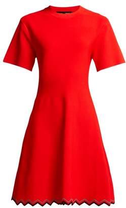 Proenza Schouler Zigzag-hem Stretch-knit Dress - Womens - Red