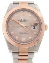 Rolex Datejust 41mm Sundust Diamond Dial Rose Gold And Steel Men's Watch 126331