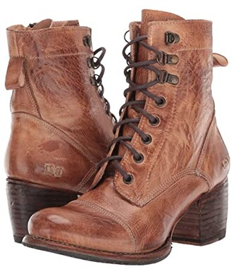 Bed Stu Judgement (Tan Rustic) Women's Dress Lace-up Boots