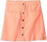 Tommy Hilfiger Snap Front Fray Skirt Girl's Skirt