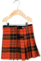 Junior Gaultier Girls' Pleated Plaid Skirt