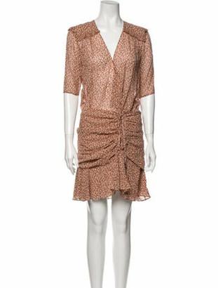 Veronica Beard Silk Mini Dress w/ Tags Orange