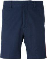 MSGM side stripe shorts - men - Cotton - 46
