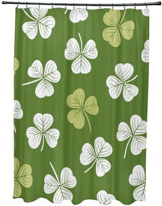 "Simply Daisy 71"" x 74"" Lucky Holiday Floral Print Shower Curtain"