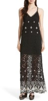 Alice + Olivia Women's Sally Embroidered Lace Maxi Slipdress