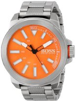 HUGO BOSS BOSS Orange Men's 1513007 New York Analog Display Quartz Silver Watch