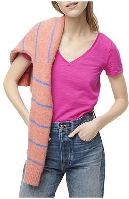 J.Crew Vintage Cotton V-Neck T-Shirt (Frosty Olive) Women's Clothing