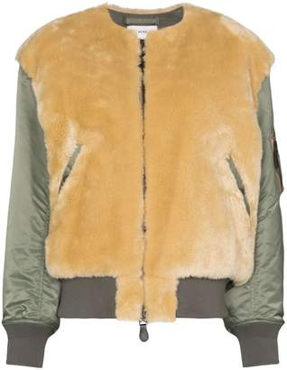 Hyke faux shearling jacket